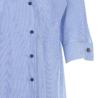 button point shirt dress blue
